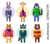 pretty human look animals in...   Shutterstock .eps vector #339842759
