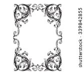 vintage baroque frame scroll...   Shutterstock .eps vector #339842855