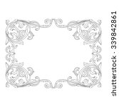 vintage baroque frame scroll... | Shutterstock .eps vector #339842861