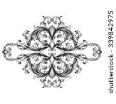 vintage baroque frame scroll... | Shutterstock .eps vector #339842975