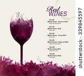 template list or wine tasting.... | Shutterstock .eps vector #339845597