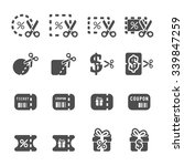 coupon and discount icon set 4  ...