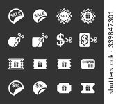 coupon and discount icon set ...