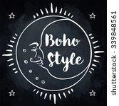 ornamental boho style element ...