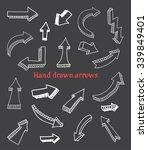 hand drawn arrows.3d arrows set.... | Shutterstock .eps vector #339849401