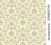 ornate vintage seamless damask... | Shutterstock .eps vector #339850745
