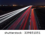 driving on highway at night... | Shutterstock . vector #339851051