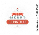 merry christmas greeting card... | Shutterstock .eps vector #339853019