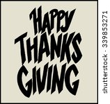 happy thanks giving. hand... | Shutterstock .eps vector #339853271