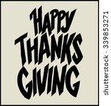 happy thanks giving. hand... | Shutterstock .eps vector #339853271