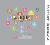 we are hiring. we are hiring... | Shutterstock .eps vector #339862739