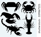 Set Crustaceans. Isolated On...