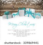 photo of gifts with colorful... | Shutterstock . vector #339869441