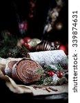 Festive Chocolate Yule Log In...