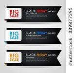 banner design black friday for... | Shutterstock .eps vector #339877295