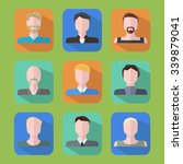 people icons. flat vector icons ... | Shutterstock .eps vector #339879041
