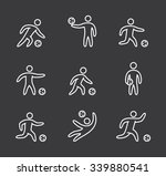 linear soccer icons set. linear ... | Shutterstock . vector #339880541