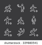 linear soccer icons set. linear ... | Shutterstock . vector #339880541