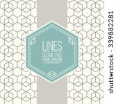 geometric linear pattern and... | Shutterstock .eps vector #339882281