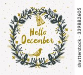 hello december print design