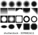 set of halftone backgrounds.... | Shutterstock .eps vector #339882611
