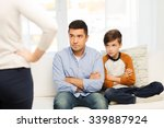 people  misbehavior  family and ... | Shutterstock . vector #339887924