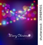 merry christmas happy new year... | Shutterstock .eps vector #339889001