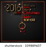 2016 happy new year and merry... | Shutterstock . vector #339889607