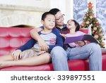 portrait of two children and... | Shutterstock . vector #339897551
