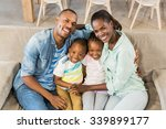 happy family relaxing on the... | Shutterstock . vector #339899177