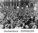 protest strike advocated at... | Shutterstock . vector #339900209