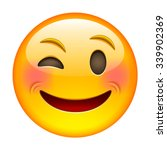 eyewink emoticon. isolated... | Shutterstock .eps vector #339902369