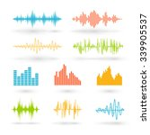 color sound waves. music...   Shutterstock .eps vector #339905537
