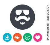 mustache and sunglasses sign... | Shutterstock .eps vector #339905774