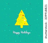 vector happy holidays greeting... | Shutterstock .eps vector #339918821