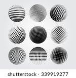 halftone sphere.halftone vector ... | Shutterstock .eps vector #339919277