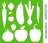 vegetables  fruits and berries  ... | Shutterstock .eps vector #339920705