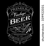 beer label western hand drawn... | Shutterstock .eps vector #339922031