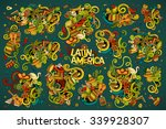 colorful vector hand drawn... | Shutterstock .eps vector #339928307