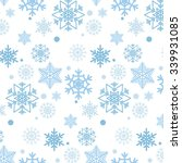 blue snowflakes pattern. | Shutterstock .eps vector #339931085