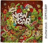 new year hand lettering and... | Shutterstock .eps vector #339931889