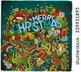 merry christmas hand lettering... | Shutterstock .eps vector #339931895