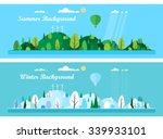 vector flat illustrations   eco ... | Shutterstock .eps vector #339933101