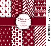 collection of seamless patterns ... | Shutterstock .eps vector #339933329