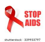 stop aids   vector background... | Shutterstock .eps vector #339933797