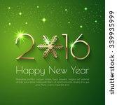 Happy New Year 2016 Text Desig...