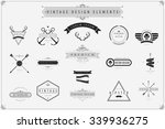 vintage vector design elements  ... | Shutterstock .eps vector #339936275