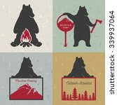 vector set bears with sign camp ... | Shutterstock .eps vector #339937064