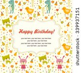 colorful baby shower background ... | Shutterstock .eps vector #339937151