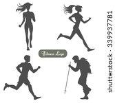 a set of silhouettes of people... | Shutterstock .eps vector #339937781